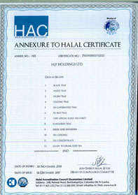 Annexure to Halal Certificate