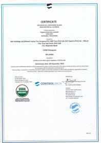 Organic certification to USDA